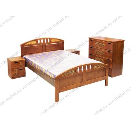 """Кровать """"Галатея"""" с резьбой"""