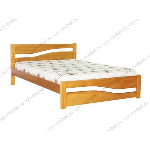 """Кровать из массива березы """"Волна"""""""
