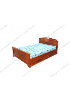 """Кровать из массива сосны """"Афина-2""""с ящиками"""