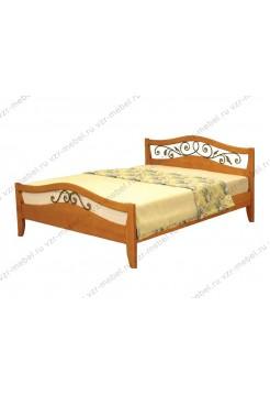 """Кровать односпальная """"Алиса"""" с ковкой"""