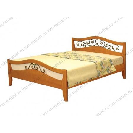 """Кровать из массива сосны """"Алиса"""" с ковкой"""