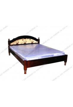 """Кровать двуспальная """"Филенка"""" с тканью"""