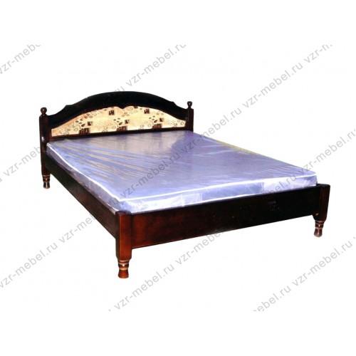 """Кровать из массива сосны """"Филенка"""" с тканью"""