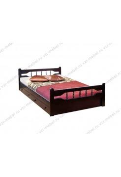 """Кровать из массива березы """"Крокус"""" с ящиками"""