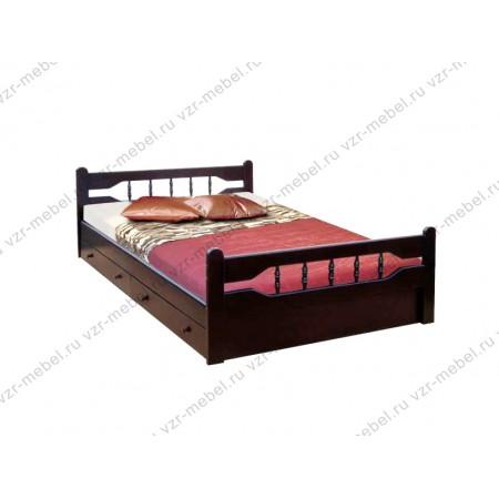 """Кровать из массива сосны """"Крокус"""" с ящиками"""