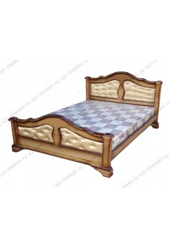 """Кровать из массива березы """"Массив"""" с тканью"""