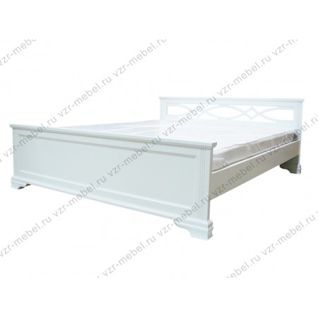 """Кровать из массива сосны """"Лира"""" белая"""