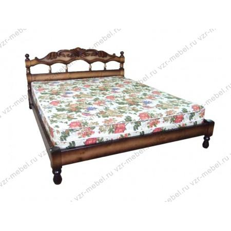 """Кровать из массива сосны """"Маргарита"""" с резьбой"""
