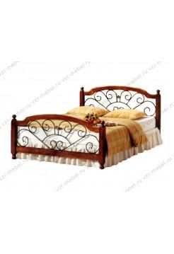 """Кровать из массива сосны """"Прага"""" с ковкой"""