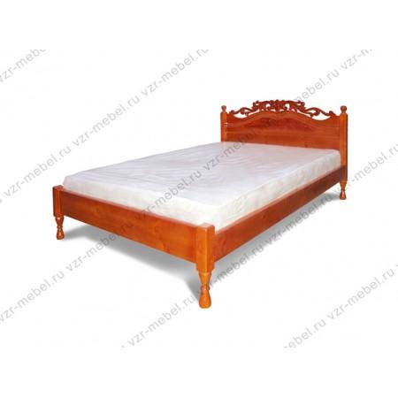 """Кровать из массива сосны """"Роза"""" с резьбой"""