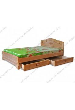 """Кровать из массива сосны """"Сатори"""" с ящиками"""