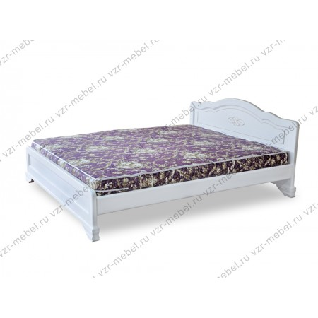 """Кровать из массива сосны """"Сатори"""" белая"""