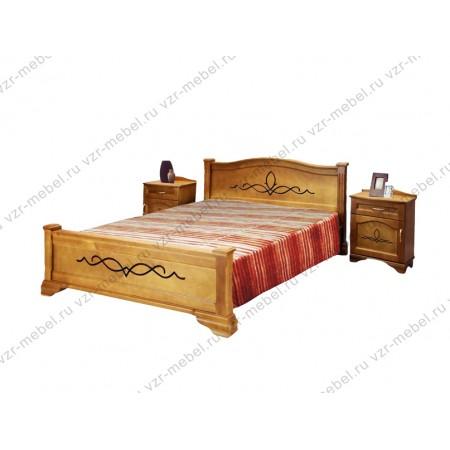 """Кровать из массива сосны """"Соната"""""""