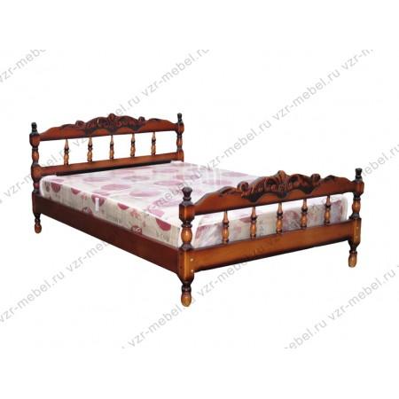 """Кровать из массива сосны """"Точеная-1"""" с резьбой"""