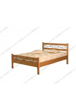 """Кровать из массива березы """"Венеция"""" с ковкой"""
