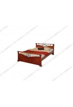"""Кровать двуспальная """"Золушка"""" с ковкой"""