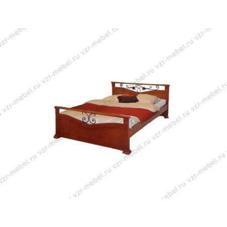 """Кровать из массива сосны """"Золушка"""" с ковкой"""