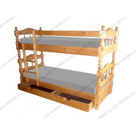 """Кровать двухъярусная """"Точенка"""""""