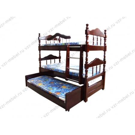 """Кровать трехъярусная """"Точеная"""""""