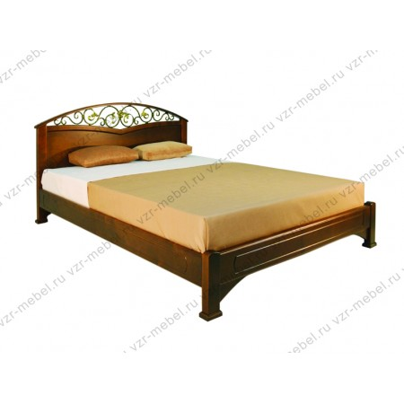 """Кровать из массива сосны """"Омега-3"""""""