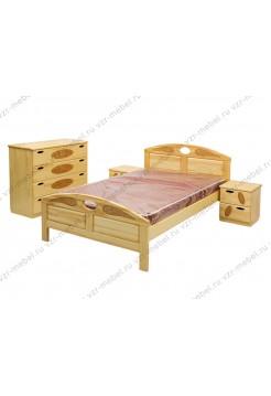 """Кровать из массива сосны """"Галатея-1"""" с резьбой"""