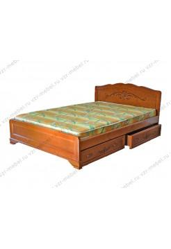 """Кровать из массива березы """"Муза"""" с ящиками"""