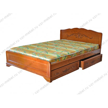 """Кровать из массива сосны """"Муза"""" с ящиками"""