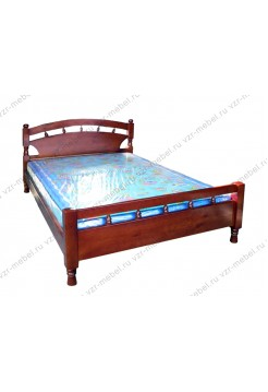 """Кровать из массива сосны """"Солнце-1"""""""