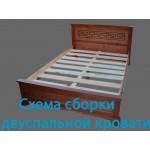 Схема сборки двуспальной кровати