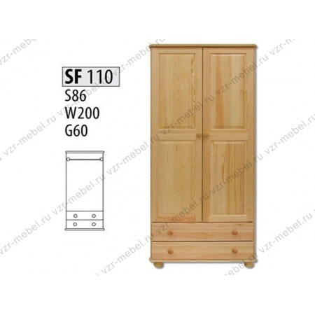 Шкаф из массива №110