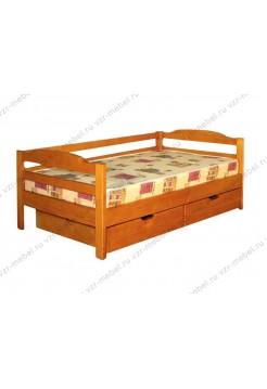 Кровать три спинки с ящиками детская